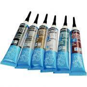 SETACOLOR 3D Couleurs Glitter - Boîte de 6 tubes