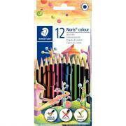 Crayons de couleur Noris colour 185 assortis - Lot de 10 étuis de 12