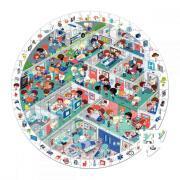 Puzzle d'observation rond de 208 pièces - Les urgences