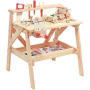 Etabli en bois avec 61 accessoires