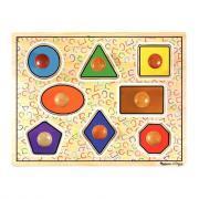 """Encastrement à gros boutons en bois """"les formes géométriques"""", 8 pièces"""