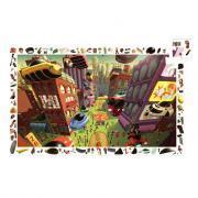 Djeco - Puzzle d'observation de 200 pièces sur le thème de la ville future