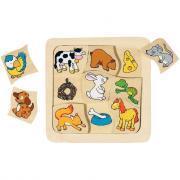 Puzzle de 9 pièces qui mange quoi?