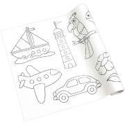 Rouleau fresque à colorier adhésif repositionnable, décor pour les petits