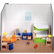 Chambre d'enfants pour maison de poupées