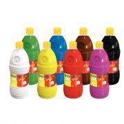 Gouache GIOTTO bébé, couleurs assorties - Carton de 8 flacons de 1L