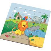 Puzzle à cadre en bois de 9 pièces, le lion