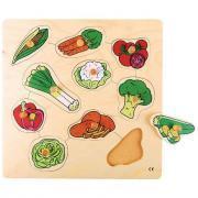 Encastrement en bois de 10 pièces, les légumes