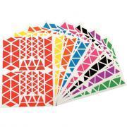 Agipa - Gommettes adhésives format triangles assortis - Pochette de 1200