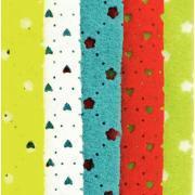 Coupons feutrine avec motifs perforés coeurs et fleurs - Paquet de 5