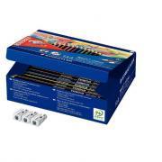 Recharge Classpack 144 crayons de couleur Noris + 3 tailles-crayons offerts