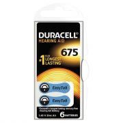 Piles auditives EASY TAB 675 DURACELL - Blister de 6