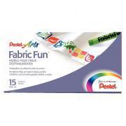 Crayons pastels pour tissus assortis - Boite de 15