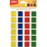 Agipa - Gommette mosaïque carrés couleurs assorties - Planche de 24
