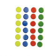 Agipa - Gommette mosaïque rondes couleurs assorties - Planche de 24