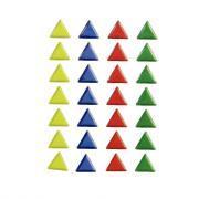 Agipa - Gommette mosaïque triangles couleurs assorties - Planche de 28