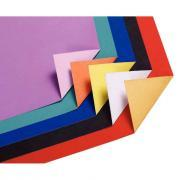Feuilles cartoline bicolore 50 x 65 cm couleurs assorties - Paquet de 25
