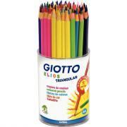 Crayons de couleur ELIOS triangulaires assortis - Pot de 84