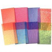 Feuille en papier vitrail dépoli assorties - 13,8 x 21 cm - Paquet de 24