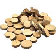 Rondelles en bois, diamètres assortis - Sachet de 1kg