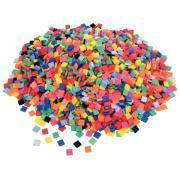 Mosaïques en plastique, format : 1 x 1 cm - Sachet de 1kg