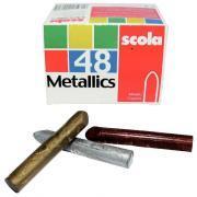 Crayons à la cire métallisés- Boîte de 48