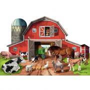 Puzzle de sol 32 pièces, la grande ferme