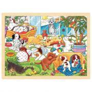 Puzzle cadres en bois, les animaux - Lot de 4