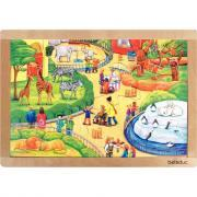 Beleduc - Puzzle à cadre en bois de 24 pièces, le Zoo