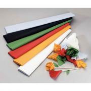 Papier crépon supérieur - 250x50 cm - Noir