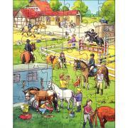 Puzzle 48 pièces, CENTRE ÉQUESTRE - Boite de 3