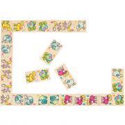 Domino animaux en bois 28 pièces