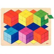 Puzzle effet 3D en bois