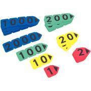 Carte nombre en plastique - Sachet de 40