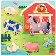 Encastrement en bois, 7 pièces, mamans et bébés animaux de la ferme