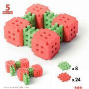 Boite de 24 fiches d'activités pour le jeu de construction mini gaufres code MDS 30915