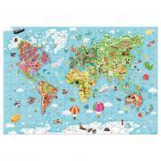 Puzzle géant 300 pièces - Carte du monde