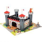 Château fort médiéval en bois + 9 pièces