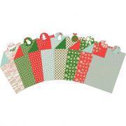 Feuilles carton décoration assorties 25 x 35 cm, thème Noël - Paquet de 40