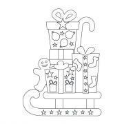 Formes de Noël à colorier et à sticker à l'aide des gommettes géométriques - Pochette de 20