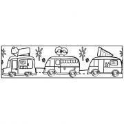 """Ruban """"masking tape"""" adhésif à colorier - Sachet de 6"""