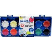 Gouache aquarelle 30mm assorti - Boîte 12 pastilles
