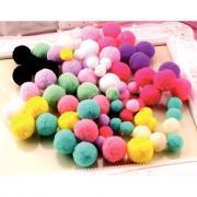 Pompon tailles et couleurs assorties - Sachet de 300