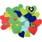Coeurs adhésifs en feutrine - Sachet de 150