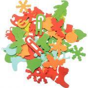 Formes de Noël en feutrine adhésive - Sachet de 150