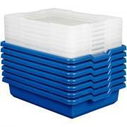 Boite de rangement petit modèle coloris bleu - Lot de 7
