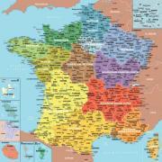 Puzzle en bois d'environ 100 pièces - La carte des départements de France