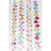 Bandes de strass aux motifs et couleurs assortis
