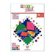 Papier dessin couleur A4 120g assorti - bloc de 20