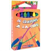 Crayons à la cire - Boîte de 16